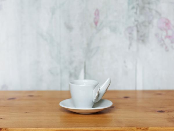 Xícara Café Alada Branca