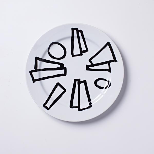 1 Prato De Bolo Massa Branca - Coleção Celso Orsini