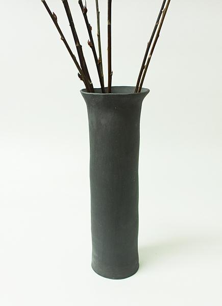 Vaso Alto Rústico Black