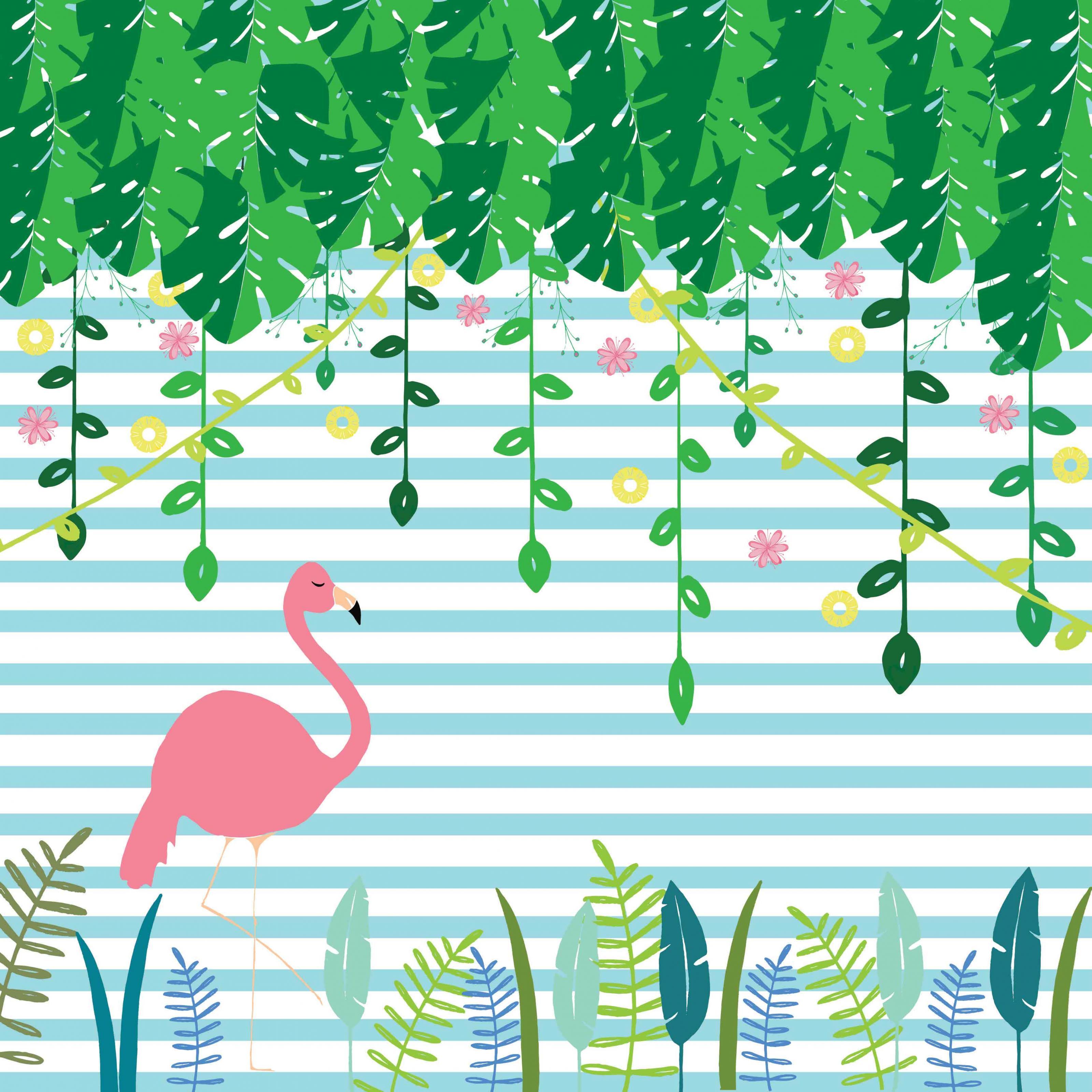 Adesivo Para Levantar Mama Funciona ~ Painel Adesivo Flamingo Boobam